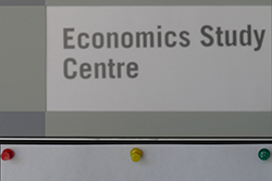 Economics Study Centre sign