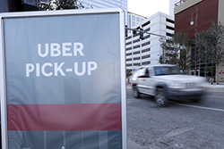 Uber pickup sign