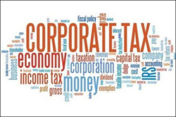 corporate tax word cloud