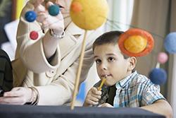 child with tutor
